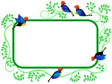 Free Framework With Birds Stock Photography - 8224582