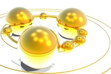 Free Gold Ball Royalty Free Stock Photo - 8224605