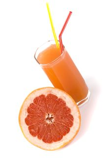 Free Half Of Grapefruit And Juice Royalty Free Stock Images - 8224849