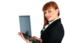 Free Business Woman With Laptop Royalty Free Stock Images - 8225009