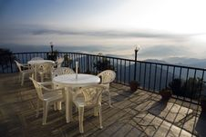 Free Mountain Cafe Terrace Royalty Free Stock Image - 8225236