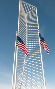 Free Two American Flags Royalty Free Stock Photo - 8225515