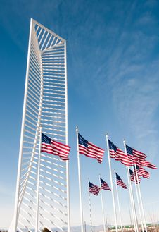 Two American Flags Stock Images