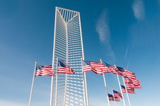 Two American Flags Stock Photography