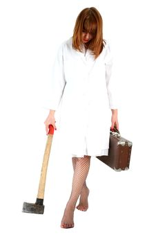 Free Woman With Axe Stock Photos - 8225763