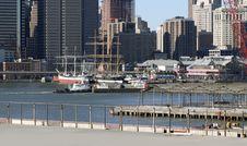 Free Ferry Pushing Barge Royalty Free Stock Image - 8226256