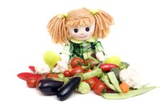 Free Vegetables And Ragdoll Stock Photos - 8226393