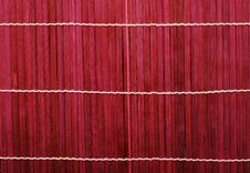 Free Red Bamboo Mat Royalty Free Stock Photo - 8226825