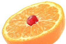 Free Grain Of Pomegranate Is In A Mandarine. Stock Images - 8226904