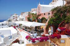 Free Oia On Santorini Island, Greece - Blue Sky, Church Stock Images - 8227814