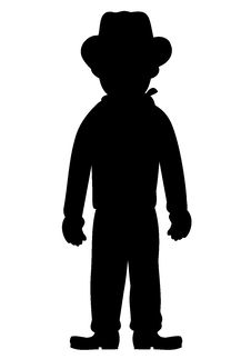 Free Silhouette Of Kid Cowboy Stock Photos - 8227833