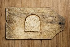 Free Slice Of Wholemeal Bread. Stock Images - 8228264