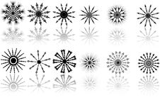 Free Reflection Of Twelve Snowflakes Royalty Free Stock Photography - 8228337
