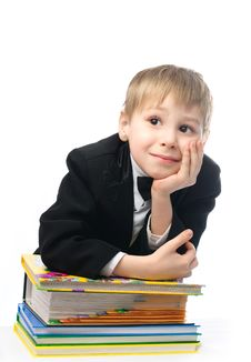 Free Bored Schoolboy Stock Photos - 8228343