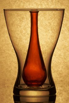 Inside The Bottle Vases Royalty Free Stock Photos