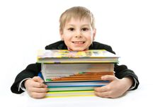 Free Schoolboy With Books Stock Photo - 8228590
