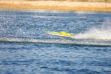 Free An R/C Model Boat Goes Airborne Royalty Free Stock Photo - 8228755