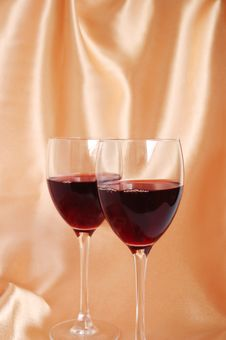 Two Glasses With Red Wine Royalty Free Stock Image
