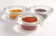 Three Colorful Spice Stock Image