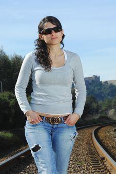 Free Walking On A Railway Stock Photos - 8228953
