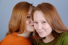 Free Portrait Of Two Young Woman Stock Image - 8229381