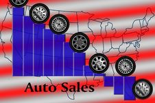 Free Auto Sales Decreasing Royalty Free Stock Photo - 8229495