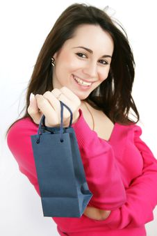 Free Woman With Shopping Bag Royalty Free Stock Images - 8229529