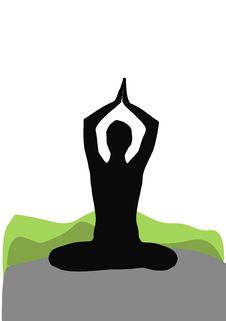 Free Seated Yoga Pose Royalty Free Stock Photography - 8229577