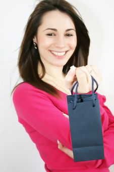 Free Woman With Shopping Bag Royalty Free Stock Images - 8229589