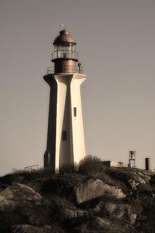 Lighthouse Closeup Duplex Stock Photo