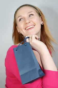 Free Woman With Shopping Bag Stock Image - 8229621