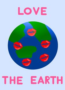 Free Love The Earth !!! Royalty Free Stock Photos - 8229638