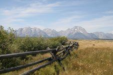 Free Teton Fence Stock Image - 8229761