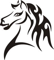 Free Tribal Horse Royalty Free Stock Photo - 8229815