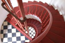 Free Hatteras Lighthouse Stairs Royalty Free Stock Photography - 8229847