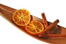 Free Cinnamon Sticks And Orange Slices, Isolated Stock Image - 8229851