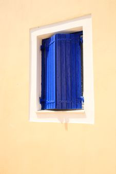 Free Blue Window Shutters Stock Photography - 8229862