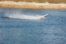 Free An R/C Model Boat Goes Airborne Stock Image - 8229881