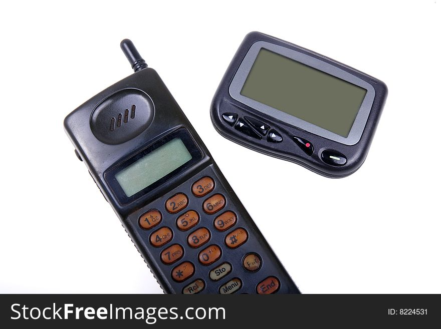Wireless pager and cell-phone .