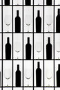 Free Black Bottles And Crystal Glasses Stock Images - 8231644