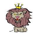 Free King Lion Cartoon Royalty Free Stock Photos - 8237458