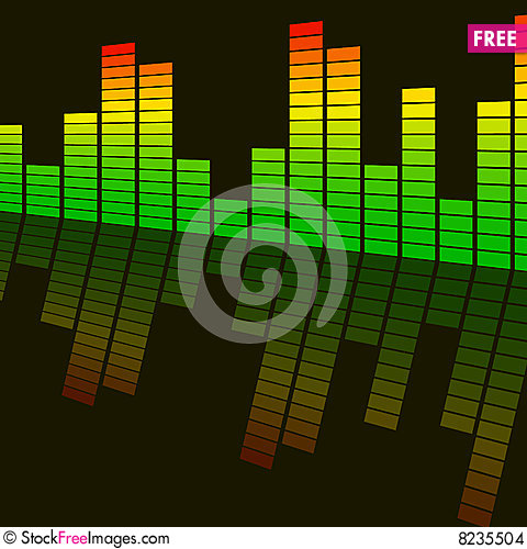 Abstract background digital equalizer