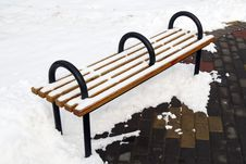 Free A Bench On The Snowfield Stock Photos - 8230453