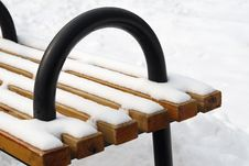 Free Snow Bench Stock Photos - 8230503