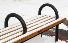 Free A Bench On The Snowfield Stock Photos - 8230523