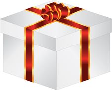 Free Gift Box With Bow Royalty Free Stock Images - 8230709