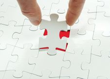 Puzzle In Hand Royalty Free Stock Images