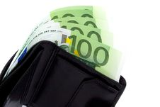 Free Euro And A Leather Purse Stock Images - 8230904