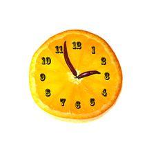 Free Orange Clockwork Royalty Free Stock Photo - 8231145