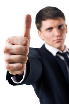 Free Man With Thumb Up Stock Photography - 8231292